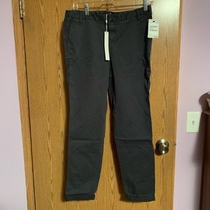 NWT Nordstrom gray cropped pants with cuffs